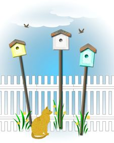Free Birdhouse Community Royalty Free Stock Photo - 20511865