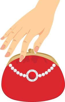 Free Stylish Red Female Purse Stock Photography - 20512642