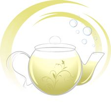 Free Teapot With Green Tea Royalty Free Stock Photography - 20512647