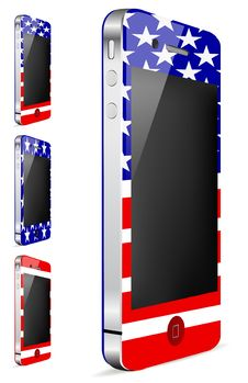 Free America Touch Phone Stock Image - 20512831
