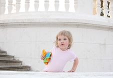 Free Baby With A Toy Royalty Free Stock Photos - 20513168