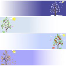Free Trees In Four Seasons. Stock Photography - 20513752
