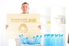 Free Recycling Man With Board Stock Photos - 20513813