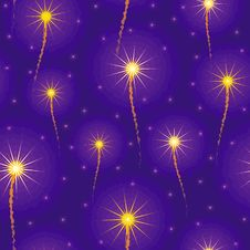 Salute, Fireworks In The Sky Seamles Stock Photos
