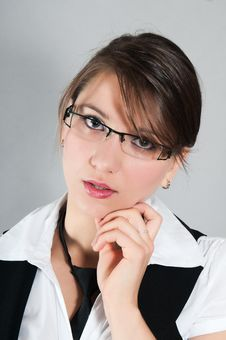 Free Young Girl With Glasses Royalty Free Stock Photography - 20514047