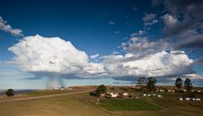 Free Storm Over Rural Village Royalty Free Stock Image - 20514316