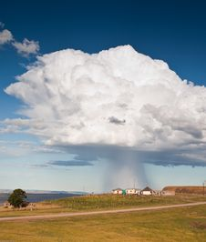 Free Storm Over Rural Village Stock Photos - 20514333