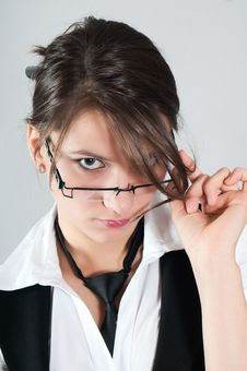 Free Young Girl With Glasses Royalty Free Stock Photos - 20514368