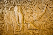 Free This Low Relief Of Elephan Royalty Free Stock Images - 20514379