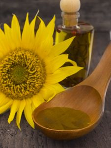 Free Sunflower Oil Royalty Free Stock Photos - 20515308