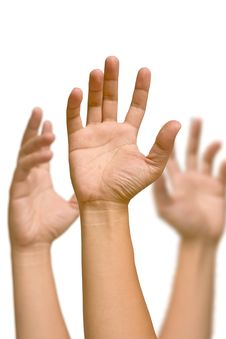 Free Raise One S Hand Stock Photography - 20515452