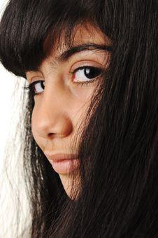 Free Schoolgirl, Black Long Hair Royalty Free Stock Photo - 20515665