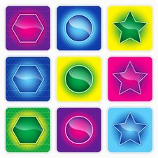 Free Glossy Color Web Buttons Stock Photos - 20516033