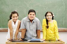 Free Three Children In Classroom Stock Photo - 20516300