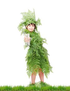 Free Plant Girl On Grass Stock Photo - 20516690
