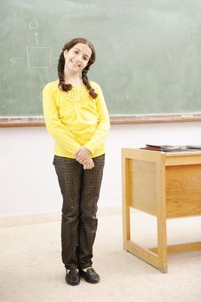 Free Gorgeous Girl In Classroom Stock Photo - 20516910