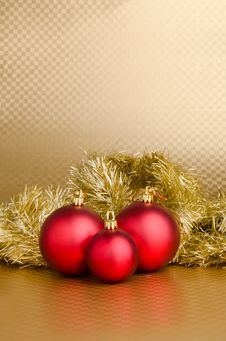 Free Christmas Background - Red Balls Royalty Free Stock Image - 20516986