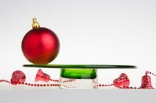 Free Christmas Background - Red Balls Royalty Free Stock Image - 20517006
