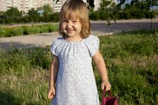 Free Portrait Of Little Girl Outdoors Royalty Free Stock Image - 20517896