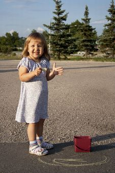 Free Little Girl Outdoors Stock Photos - 20517943