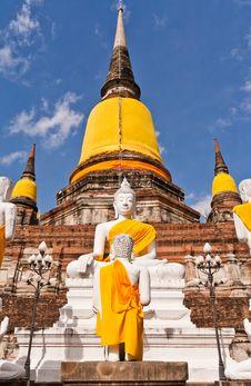 Free Buddha Statue And Ruin Pagoda In Ayutthaya Stock Photo - 20518070