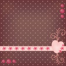 Decorated Dotted Background Royalty Free Stock Image