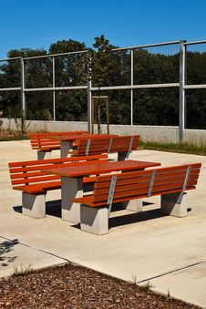 Resting Place With Benches. Stock Image