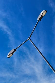 Free Modern Electric Street Light. Royalty Free Stock Image - 20519056