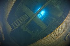 Free Inside The Engine Room Of A Large Shipwreck Stock Image - 20519911