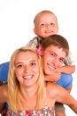 Free Family Of A Three Royalty Free Stock Photos - 20523008