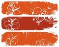 Free Set Of Horizontal Floral Autumn Banners Royalty Free Stock Image - 20528876