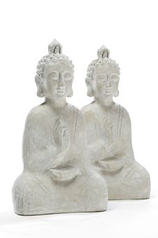 Free Two Wooden Budha Statues Stock Image - 20520331