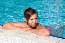 Beautiful Girl In The Swimming Pool