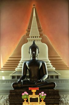 Statue Of A Buddha In Church Royalty Free Stock Photo