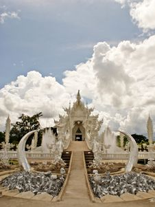 Free Wat Rhong Khun With Thai Stucco Stock Photo - 20520910