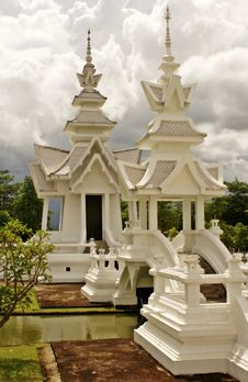 Free Sala Thai At Wat Rhong Khun Royalty Free Stock Photography - 20520927