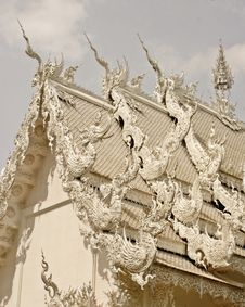 Free Wat Rhong Khun With Thai Stucco Stock Image - 20520951