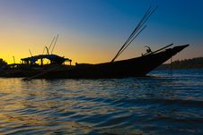 Free Boats During Sunset Royalty Free Stock Photo - 20521095