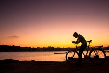 Free Biker During A Sunset Stock Photos - 20521163