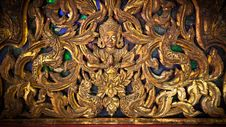 Free Burmese Decorative Panel Royalty Free Stock Photography - 20521697