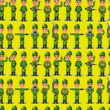 Free Cartoon Soldier Seamless Pattern Stock Photo - 20522200