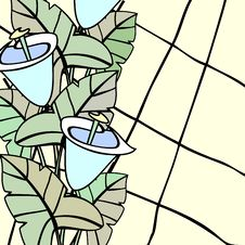 Free Stained Glass With Callas Stock Photos - 20522493