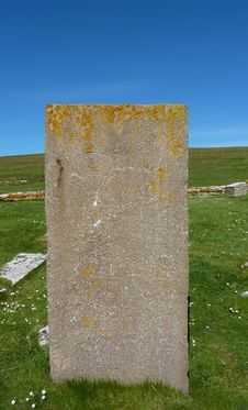 Free Standing Stone At Brough Of Birsay Royalty Free Stock Images - 20522559