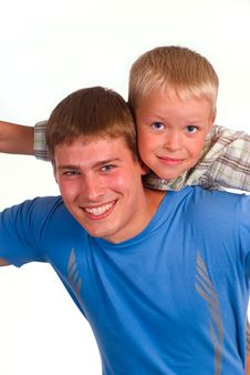 Dad With Son Stock Photography