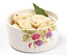 Meat Dumplings - Russian Pelmeni Royalty Free Stock Photography