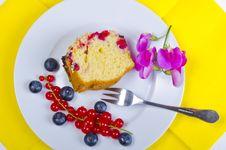 Currant Blueberry Cake Stock Photos