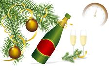 Free Champagne And Fir, Cdr Vector Royalty Free Stock Images - 20524329