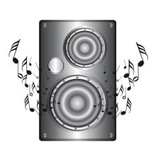 Silver Speaker Royalty Free Stock Photos