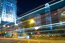 Free Hong Kong Traffic At Night Royalty Free Stock Image - 20524976