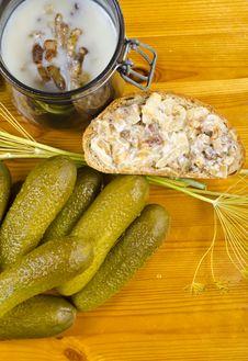 Free Polish Garlic Cucumbers Royalty Free Stock Images - 20525069